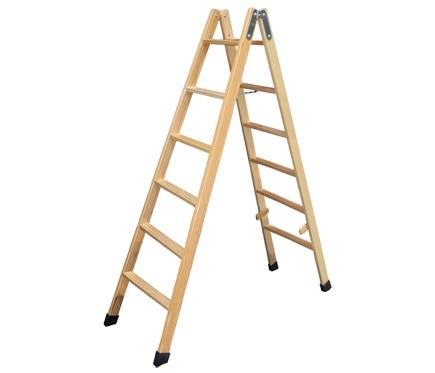 escalera de madera peldaos m sin barniz