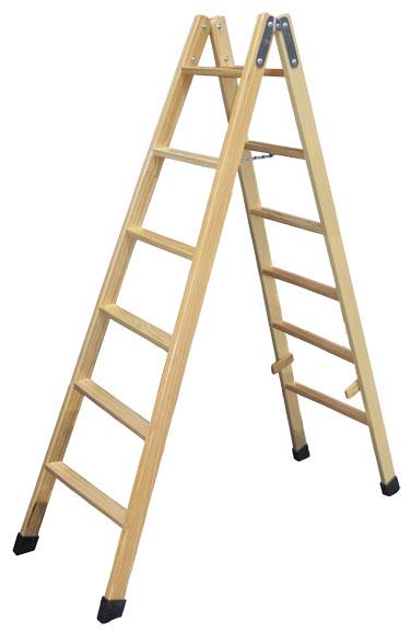 Escalera de madera 6 6 pelda os sin barniz ref for Escalera de cocina plegable