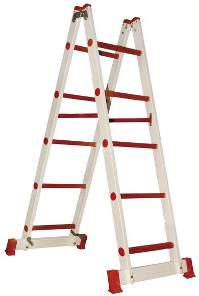 Escalera de fibra de vidrio tijera doble acceso 5 pelda os for Escaleras 5 peldanos