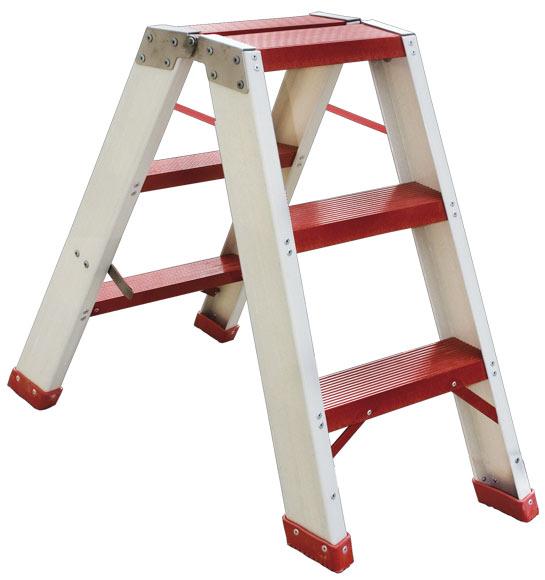 Escalera de fibra de vidrio tijera doble acceso pelda o for Escaleras 10 peldanos de tijera