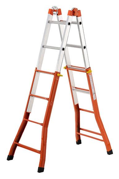 Escalera multifunci n mixta aluminio hierro 4 pelda o ref for Escalera multifuncion aluminio