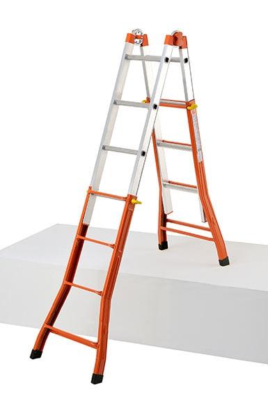 Escalera multifunci n mixta aluminio hierro 4 pelda o ref - Escaleras aluminio leroy merlin ...