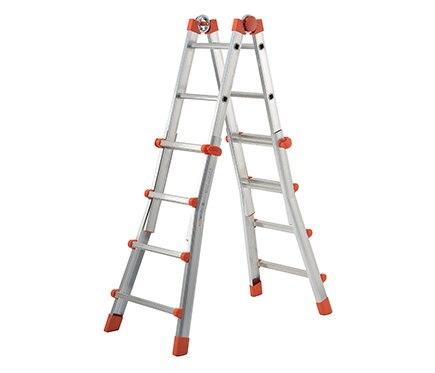 Escalera multifunci n de aluminio 4 pelda os dexter ref - Escaleras aluminio leroy merlin ...