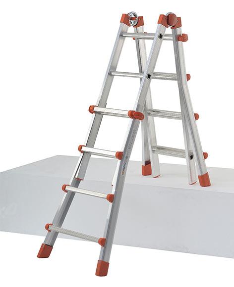 escalera multifunci n de aluminio 4 pelda os dexter ref