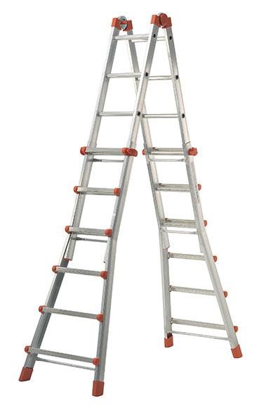 Escalera multifunci n de aluminio 6 pelda os dexter ref - Escaleras aluminio leroy merlin ...