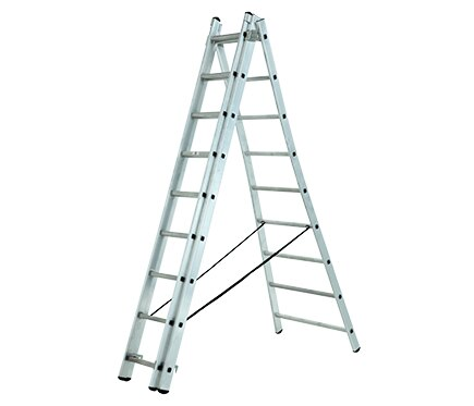 Escalera transformable 3 tramos 3x9 2 56 5 92 m pro ref for Escaleras tres tramos
