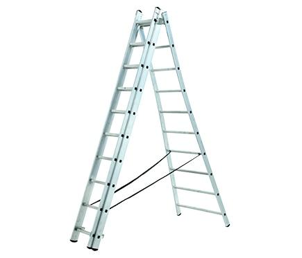 Escalera transformable 3tramos 3x10 2 84 6 76 m pro ref - Escaleras aluminio leroy merlin ...