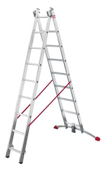 Escalera transformable propilo combinada 2 tramos 2x9 ref for Escalera 9 escalones