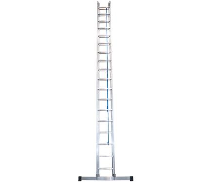 Escalera con cuerda 2 tramos ext aluminio con cuerda 2x18 - Escaleras de cuerda ...