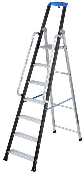 Escalera para almac n aluminio 7 pelda os anchos 2 for Escalera aluminio 2 peldanos