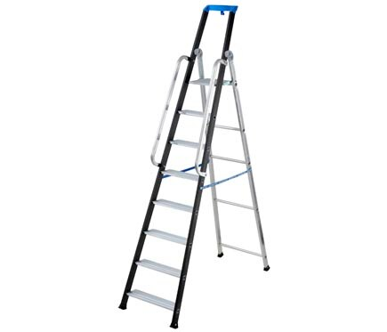 Escalera para almac n aluminio 8 pelda os anchos 2 for Escaleras 8 peldanos
