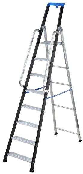 Escalera para almac n aluminio 8 pelda os anchos 2 - Escaleras aluminio leroy merlin ...