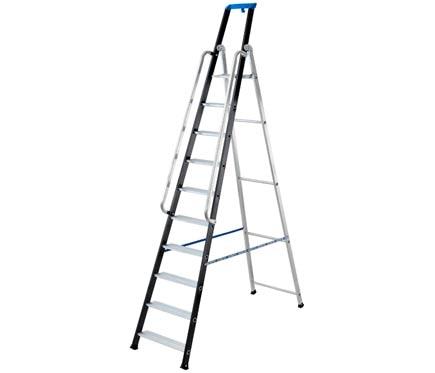 escalera para almacn aluminio peldaos anchos pasamanos