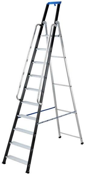 Escalera para almac n aluminio 10 pelda os anchos 2 - Escaleras para almacenes ...