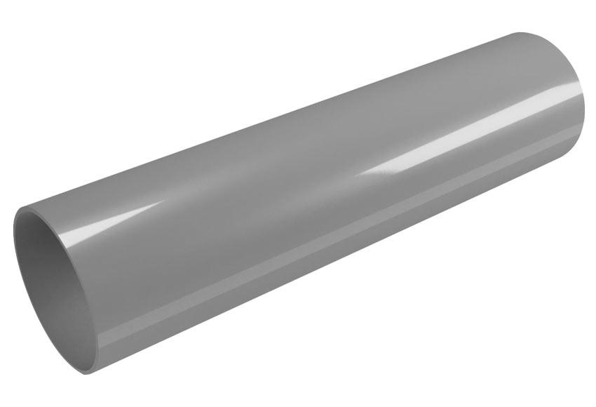 Tubo circular 80mm 3m gris ref 19441835 leroy merlin - Canalones de plastico ...