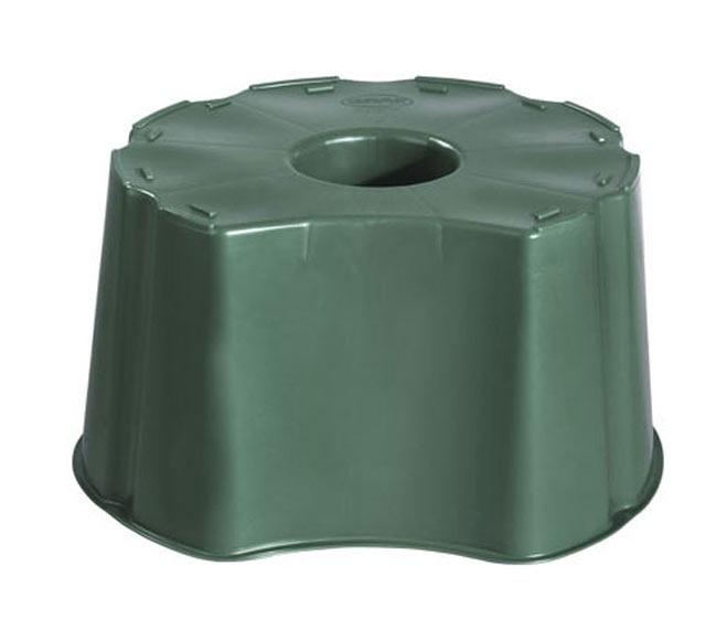 Base para dep sito redondo 210l verde ref 13854533 for Deposito agua leroy merlin