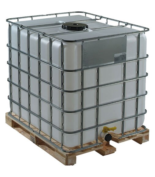 Dep sito de agua ibc 1000l edd ref 16438044 leroy merlin for Estanque para agua de 1000 litros
