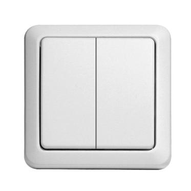 interruptor doble di o 54502 ref 15631770 leroy merlin. Black Bedroom Furniture Sets. Home Design Ideas