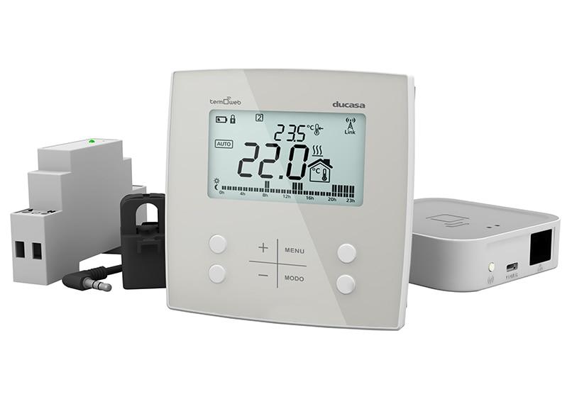 Termostato inteligente ducasa control 3g wifi caldera for Termostato leroy merlin