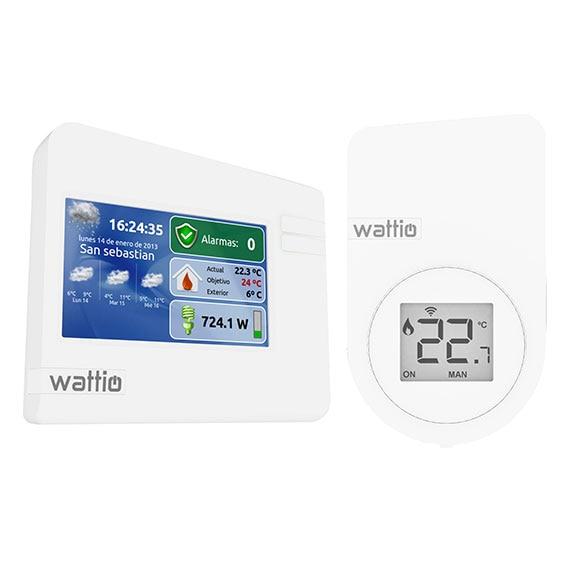 Kit dom tico con termostato inteligente wattio smart for Termostato leroy merlin