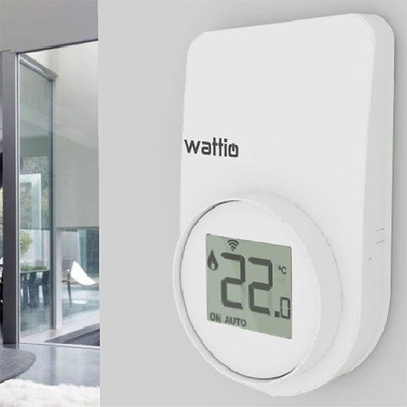 Termostato inteligente wattio smart confort ref 17363346 for Termostato gsm leroy merlin