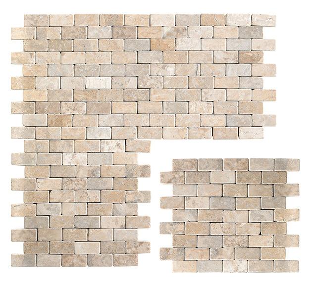 Malla 30 x 30 cm blanco serie parquet piedra ref 16658124 - Leroy merlin piedra pared ...