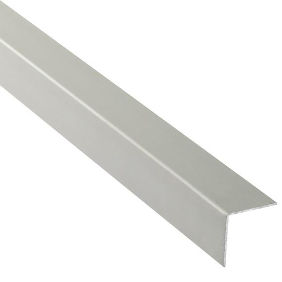Ngulo 25 x 250 cm plata mate serie perfiles aluminio ref for Perfil u aluminio leroy merlin