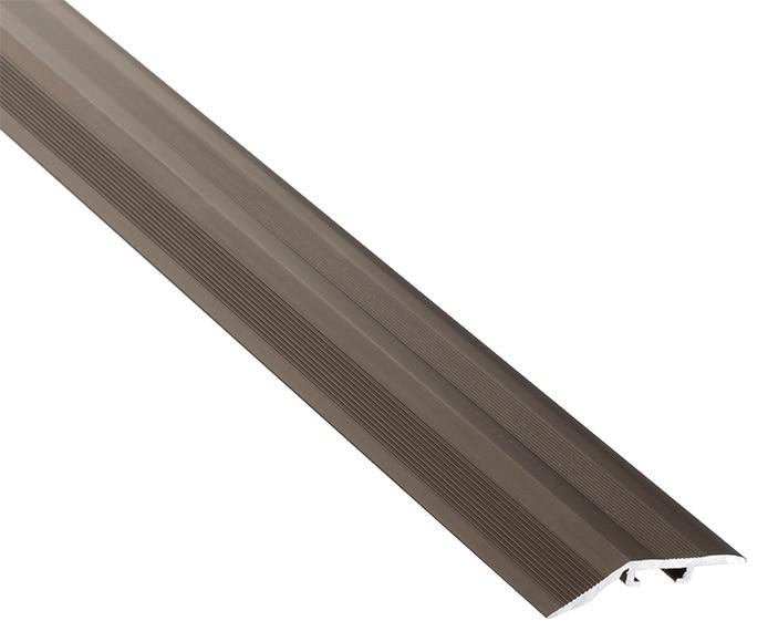Perfil de transici n 1 m de 4 mm a 12 mm bronce mate serie for Perfil u aluminio leroy merlin