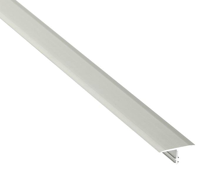 Perfil de transici n 2 2 x 250 cm plata mate serie for Perfil u aluminio leroy merlin