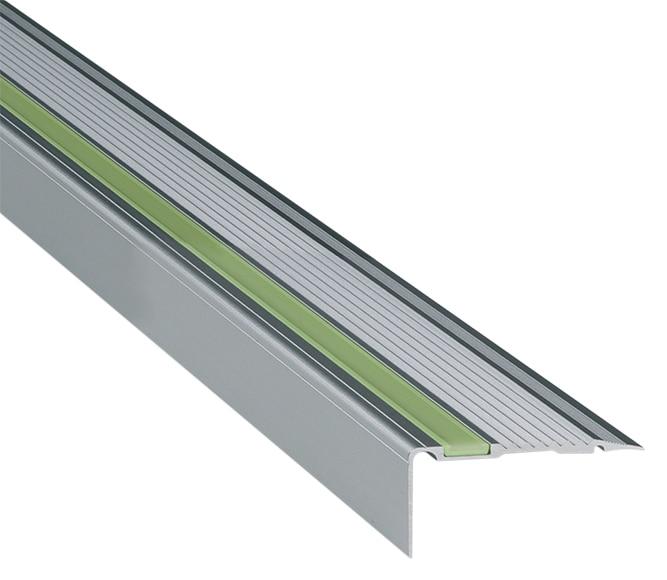 perfil para pelda o 2 50 m de 22 x 45 cm plata mate serie