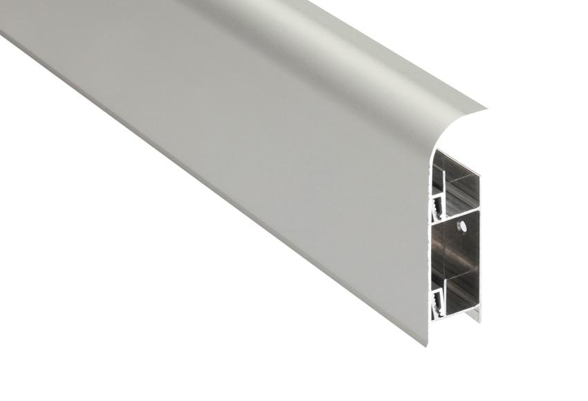 z calo 2 m x 80 mm plata mate serie pelda os y torelos On zocalo aluminio leroy merlin