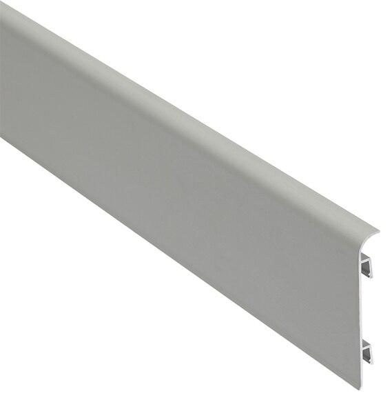 Z calo 2 m x 70 mm plata mate serie rodapi s y zanquines aluminio ref 15059345 leroy merlin - Zocalos de aluminio para cocinas ...