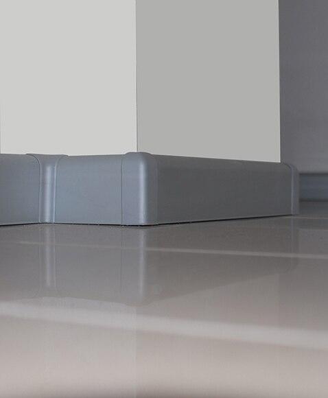 Zócalo 2 m x 70 mm plata mate Serie RODAPIÉS Y ZANQUINES ALUMINIO ...