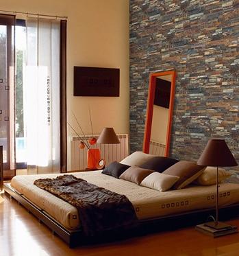 Revestimiento De Piedra Natural 60x15 Laja Multicolor Ref 13151614