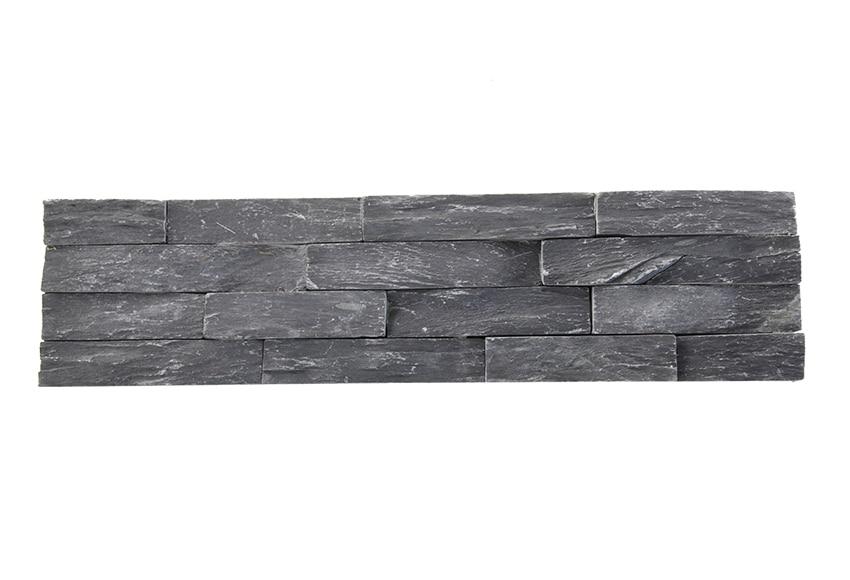 revestimiento de piedra natural 60x15 laja negra ref