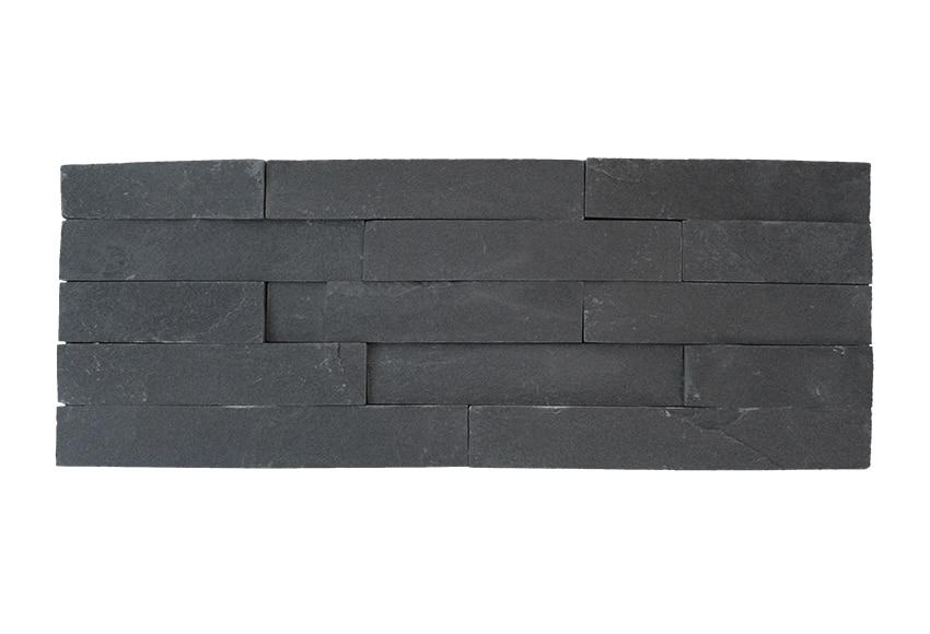 Plaqueta con acabado laja minilaja pizarra negra ref for Pizarra adhesiva leroy merlin