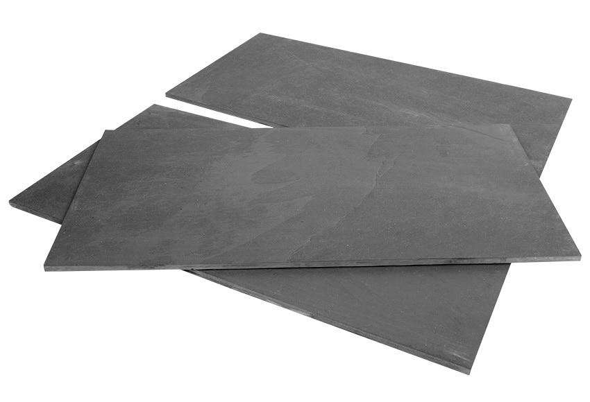 Baldosa desigual pizarra negra ref 16249485 leroy merlin for Azulejo de parquet negro imitacion