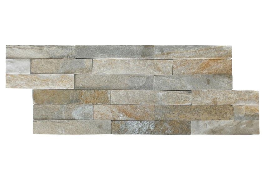 Revestimiento de piedra natural 40x15 petra beige ref 16544514 leroy merlin - Placas imitacion piedra ...