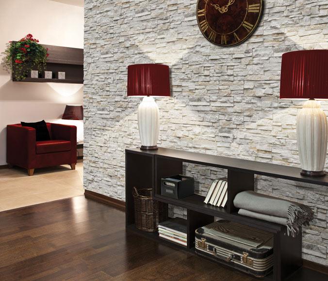 Decoraci n moderna para salones r sticos de piedra - Salones decorados con piedra ...