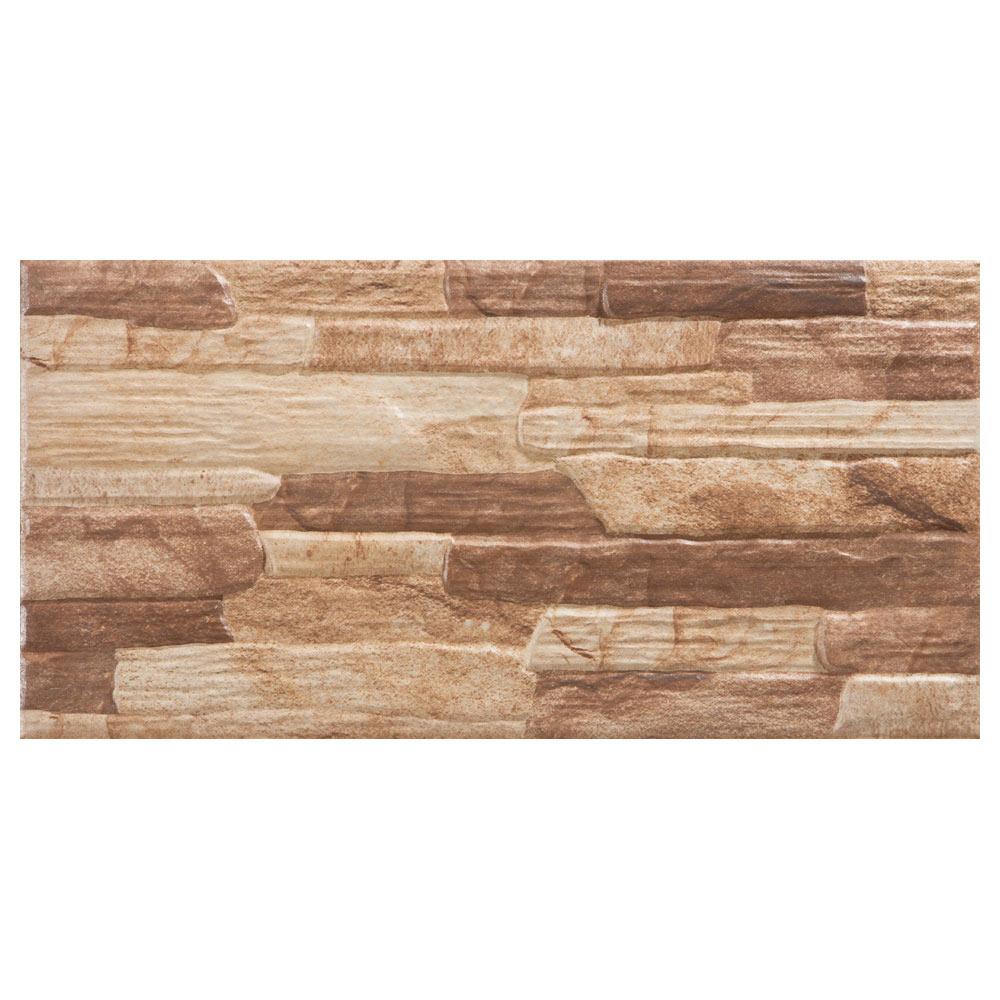 Revestimiento 25x50 cm noce serie arizona ref 17097325 - Revestimiento de paredes leroy merlin ...