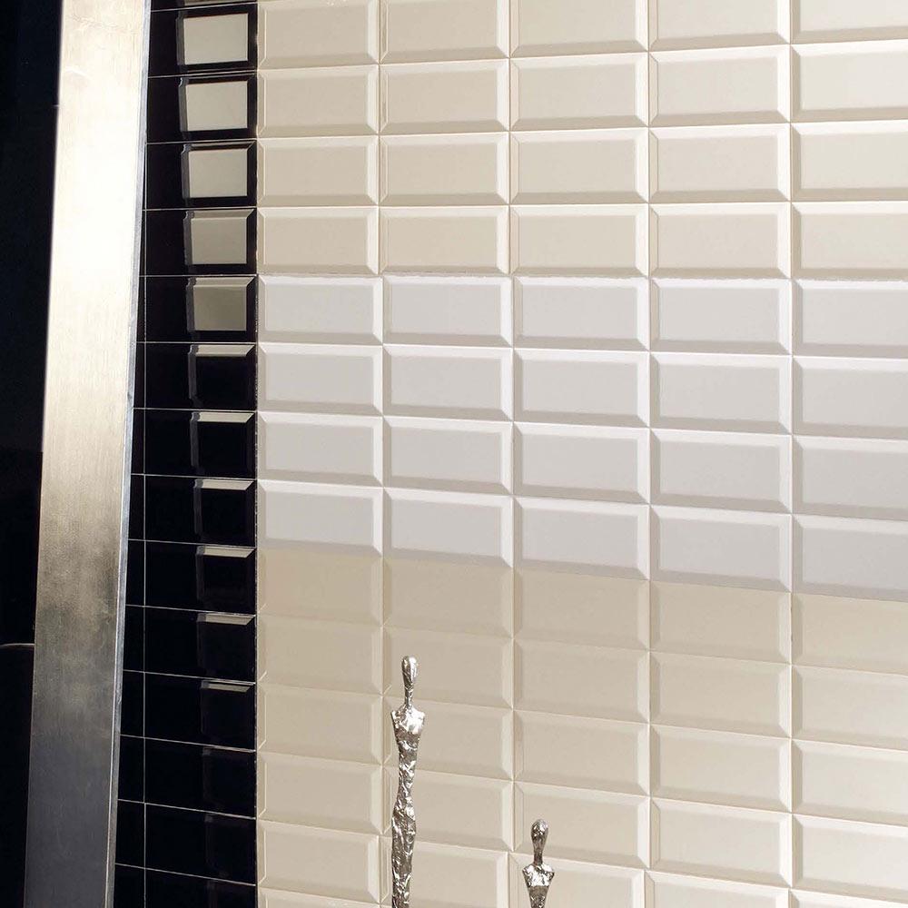 Revestimiento 10x20 cm blanco brillo serie blancos ref - Azulejos biselados 10x20 ...