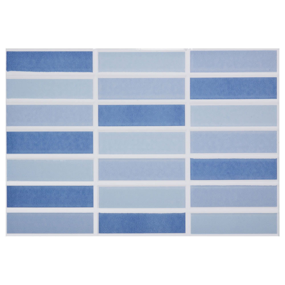 Revestimiento 25x36 5 cm azul serie caribe ref 16955365 - Leroy merlin azulejos ...