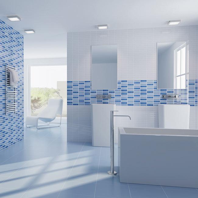 Revestimiento 25x36 5 cm blanco serie caribe ref 17034836 for Leroy azulejos bano