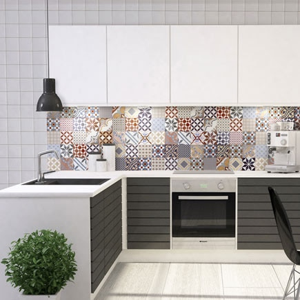 Revestimiento 30x60 cm reims natural serie krea ref for Azulejos cocina leroy merlin