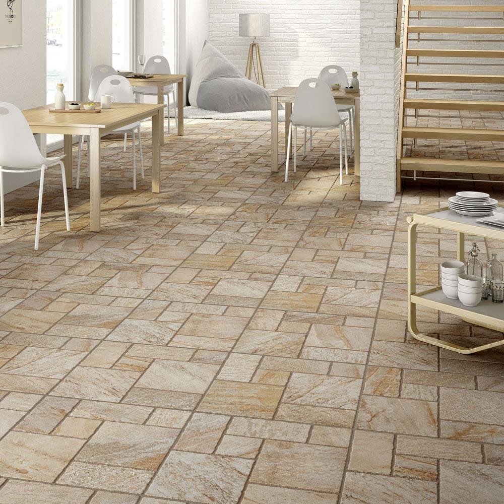 Pavimento 45x45 cm hueso antideslizante serie tripoli - Suelos de caucho para exteriores ...