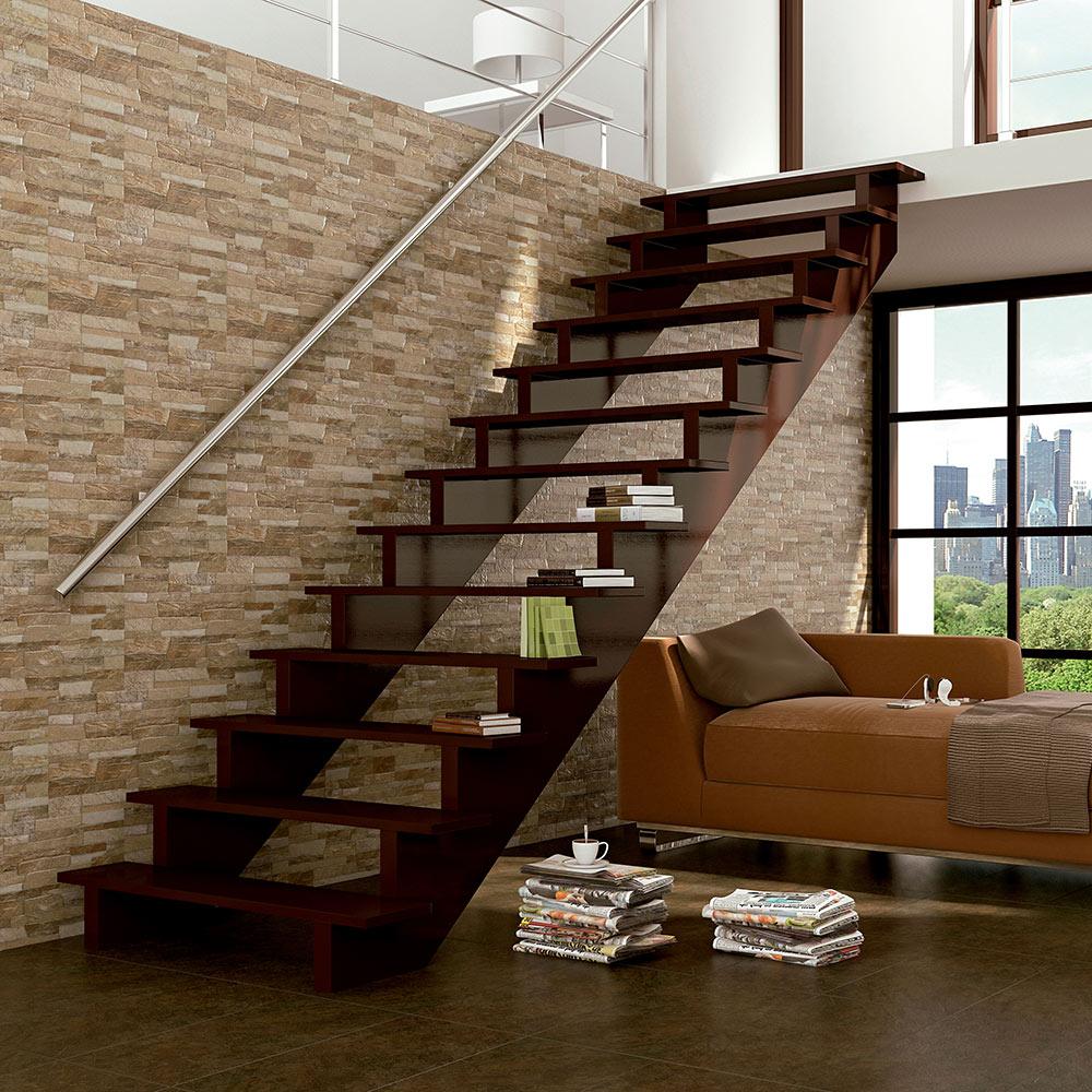 Revestimiento 30x60 cm brown artens serie vesubio ref - Revestimiento de paredes leroy merlin ...
