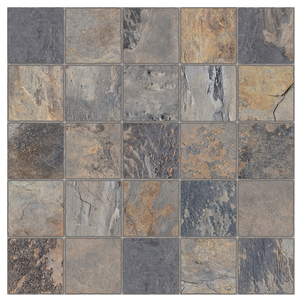 Pavimento 45x45 cm gris antideslizante serie ardesia ref for Pavimentos leroy merlin