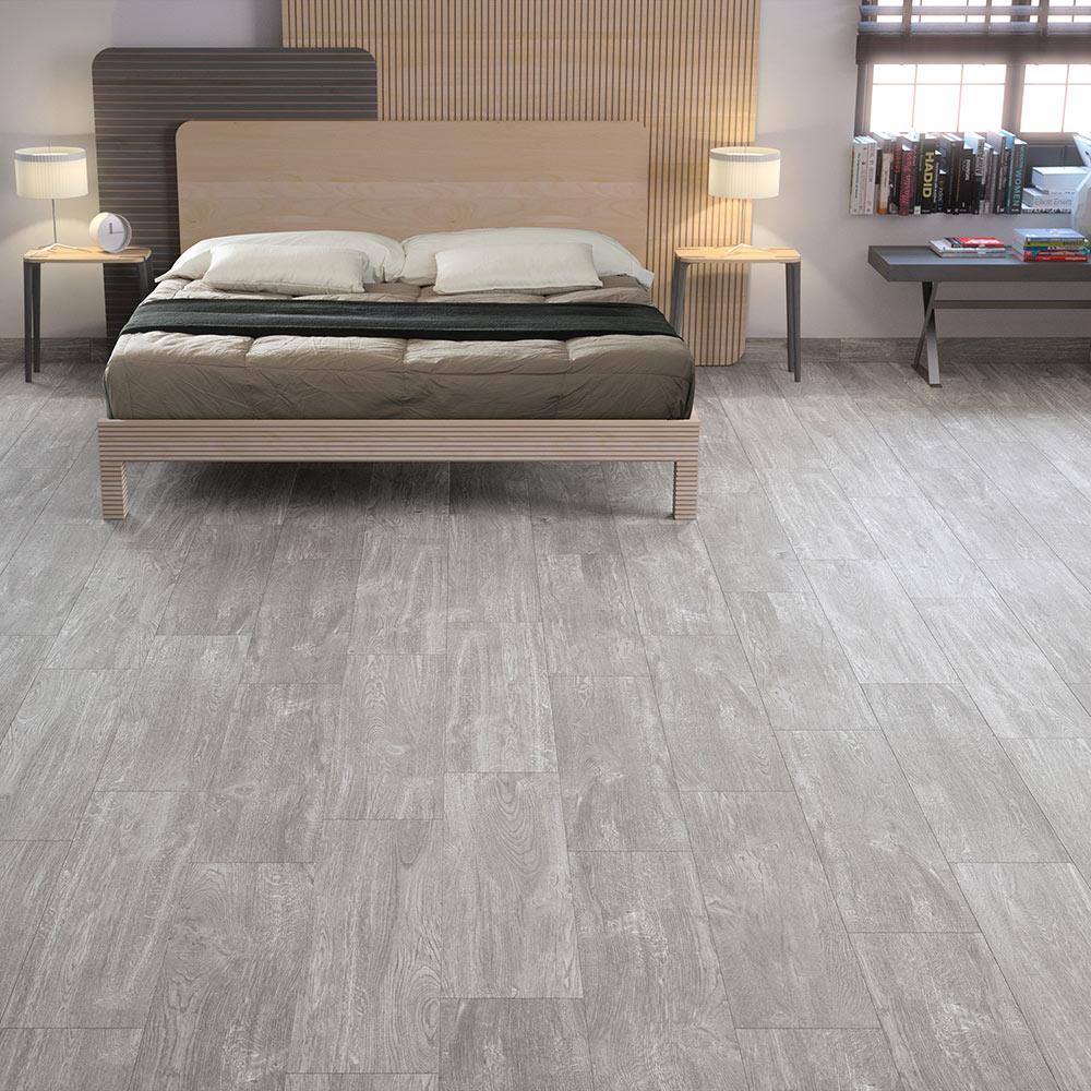 Pavimento gris serie legno ref 17369282 leroy merlin - Suelos ceramicos imitacion madera ...