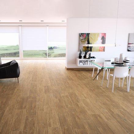 Cer mica para habitaciones y salones leroy merlin - Plaqueta imitacion madera ...