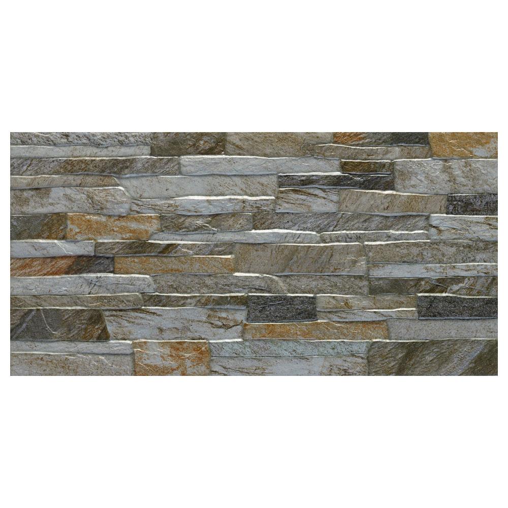 Revestimiento 30x60 cm gris serie vesubio ref 17028942 - Revestimiento de paredes leroy merlin ...